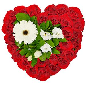"""Композиции на 14 февраля - Композиция """"Цветочное сердце"""""""