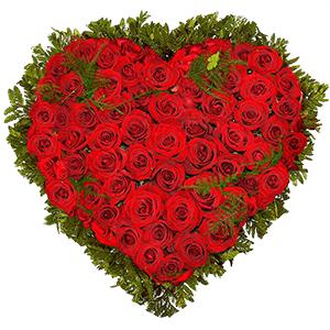 """Композиции на 14 февраля - Композиция """"Сердце из роз"""""""
